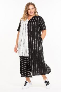 """Платье """"Каприз"""" (ВК20-056) бело-черный"""